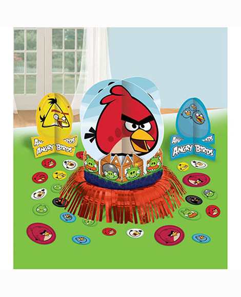 Angry Birds 3 Piece Table Top Centerpiece Decoration