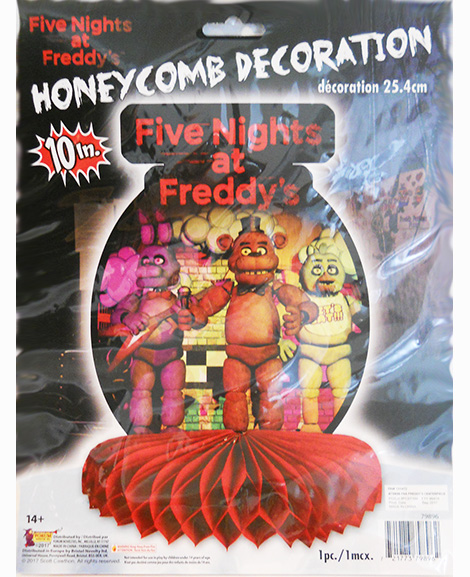 Five Nights at Freddy's Honeycomb Centerpiece
