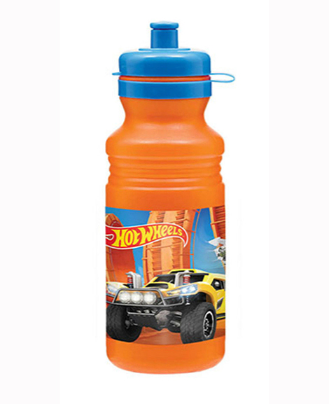 Hot Wheels Wild Racer Plastic 18 oz Water Bottle