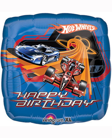 Hot Wheels Happy Birthday 18 Inch Round Foil Mylar Balloon