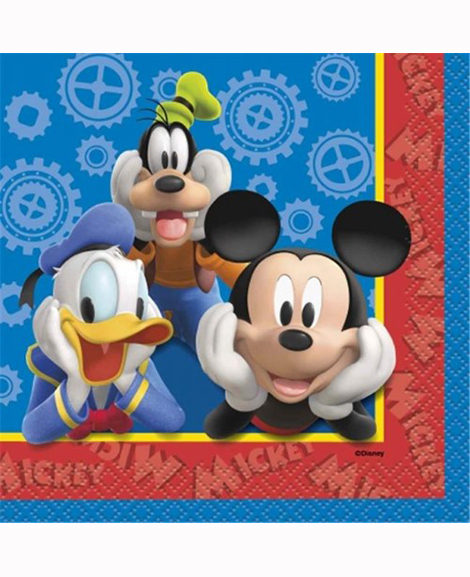 Mickey Clubhouse Beverage Napkins by Unique 16 Ct