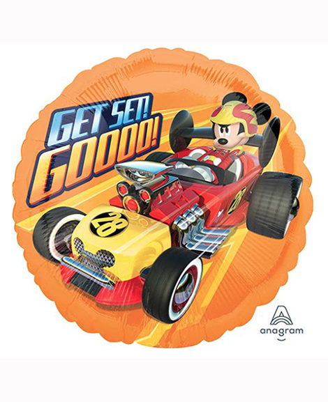 Mickey and The Roadster Racers 18 Inch Round Foil Mylar Balloon