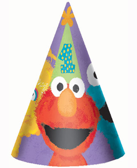 Sesame Street 1st Birthday Cone Hats At Party Quackers