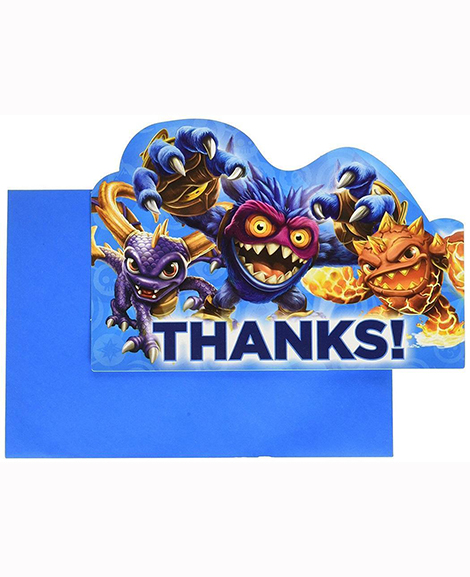 Skylanders Evergreen Thank You Cards and Seals