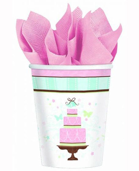 Blushing Bride Shower 9 oz Paper Cups
