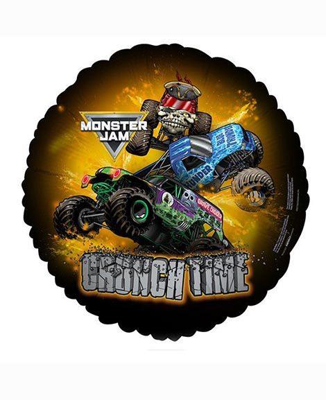 Monster Truck Jam Crunch Time Foil 18 Inch Mylar Balloon