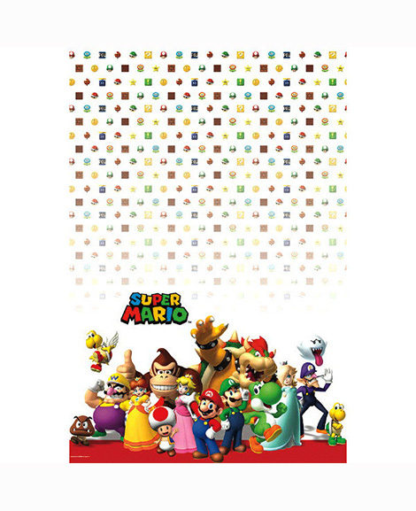 Super Mario Cartoon Plastic Table Cover