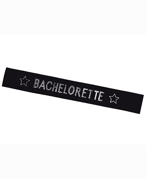 Bachelorette Party Bridal Sash With Shiny Rhinestones