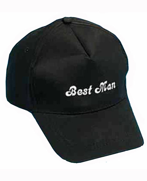 Best Man Baseball Cap with White Embroidery