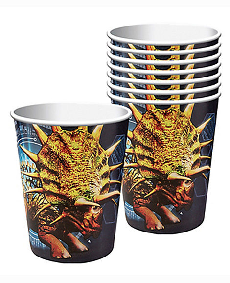 Jurassic World Triceratops 9 oz Paper Cups 8 Ct