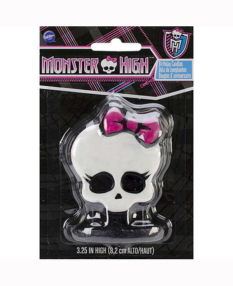 Monster High 3D Skull Style Molded Candle Birthday Cake Topper
