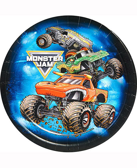 Monster Truck Jam Crunch Time Dessert Plates 8 Ct