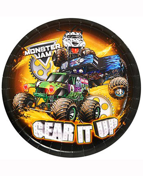Monster Truck Jam Crunch Time Lunch Plates 8 Ct
