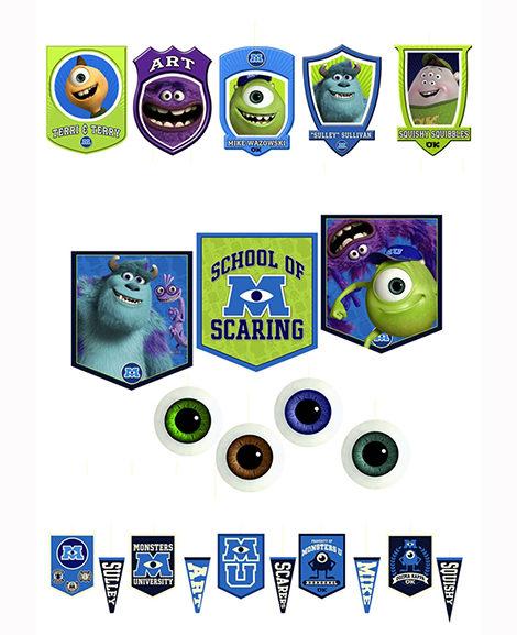 Monsters University 22 Piece Room Transformation Kit