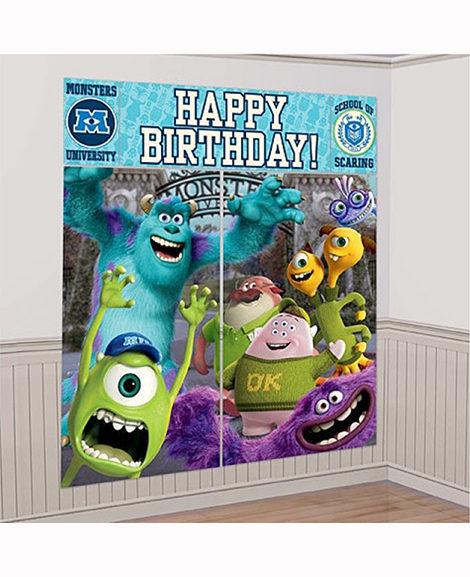 Monsters University Birthday Scene Setter Wall Kit