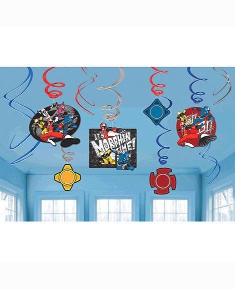 Power Rangers Ninja Steel Hanging Swirl Decorations