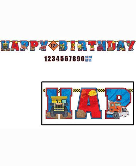 Tonka Jumbo Letter Banner Kit