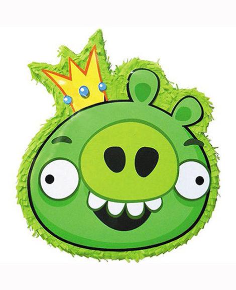Angry Birds Green Pig Pull String Piñata