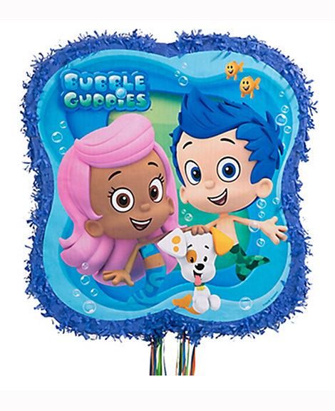 Bubble Guppies Pull String Drum Piñata