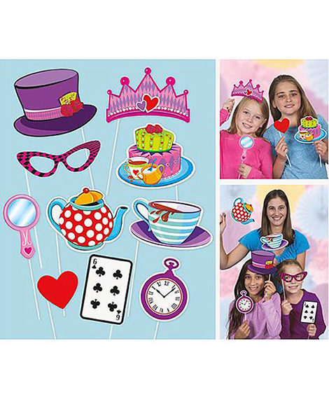 Alice In Wonderland Mad Hatter Photo Prop 10 Piece Set