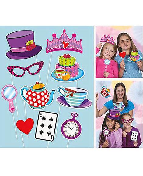 Alice In Wonderland Mad Hatter Photo Prop 10 Piece Set