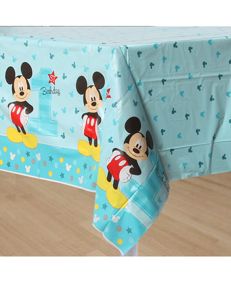 Mickey Fun To Be One 1st Birthday Plastic Table Cover