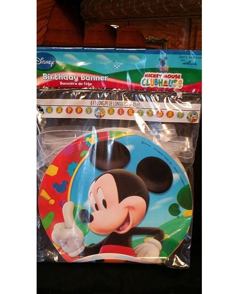 Mickey Clubhouse Plastic Jointed Banner