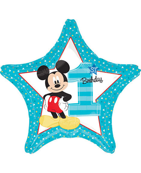 Mickey Fun To Be One 1st Birthday Foil Mylar Balloon