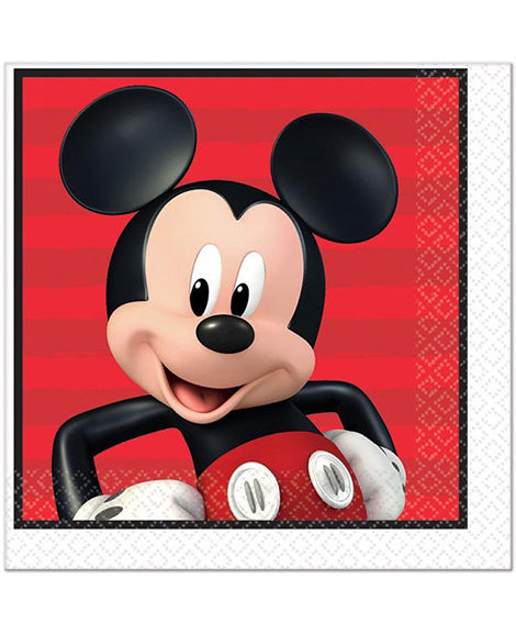Mickey Mouse On The Go Lunch Napkins 16 Ct