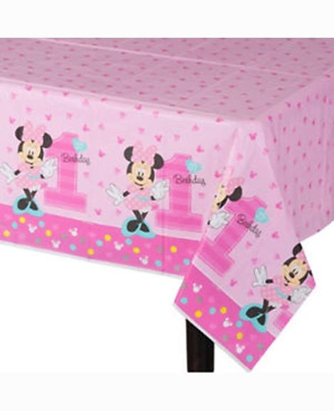 Minnie Fun To Be One 1st Birthday Table Cover