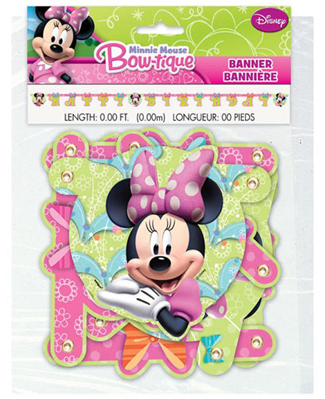 Minnie Mouse Bowtique Jointed Banner