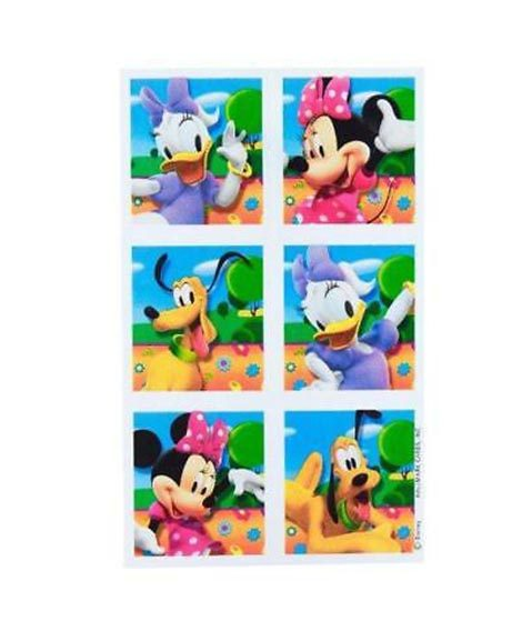Minnie Mouse Clubhouse Party Favor Stickers