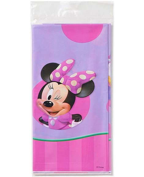 sc 1 st  Party Quackers & Minnie Mouse Plastic Table Cover Party supplies at Party Quackers