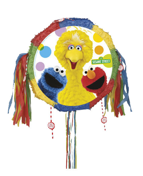 Sesame Street Pop Out Style Pull String Piñata