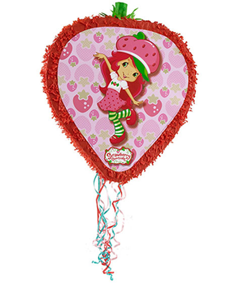 Strawberry Shortcake Drum Style Pull String Piñata