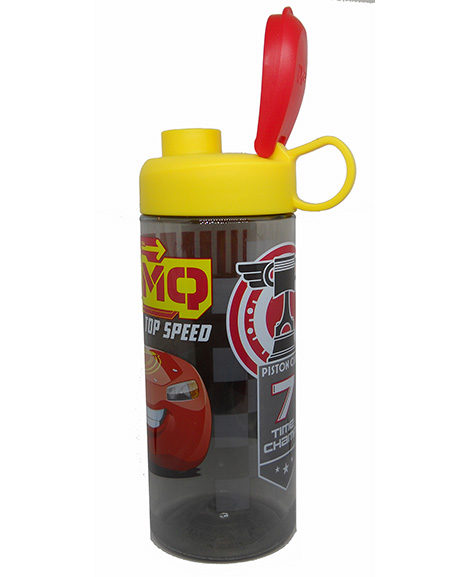 Cars Plastic Water Bottle With Flip Lid