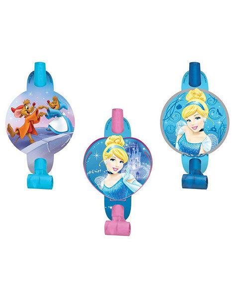 Cinderella Sparkle Party Favor Blowouts 8 Ct