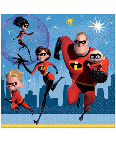 Incredibles 2 Lunch Napkins 16 Ct