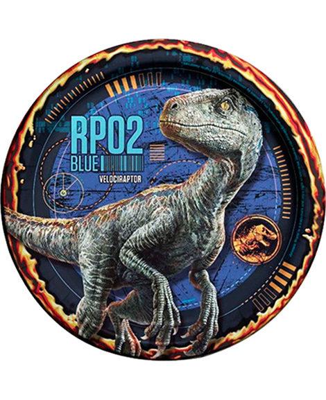 Jurassic World Velociraptor Dessert Plates 8 Ct