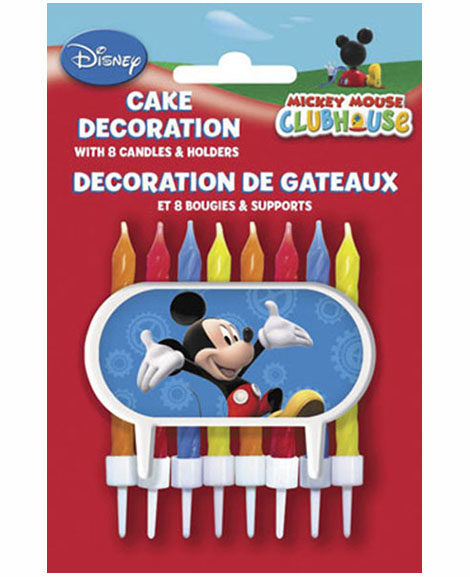 Mickey Mouse Clubhouse Candles with Holders Set of 8