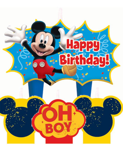 Mickey Mouse Fun and Friends Molded Cake Candle Set