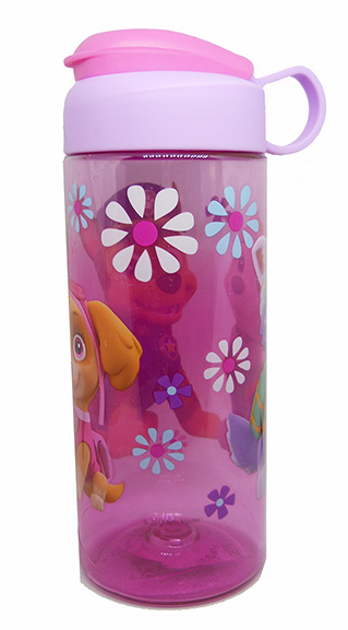 Paw Patrol Plastic Water Bottle with Flip Lid