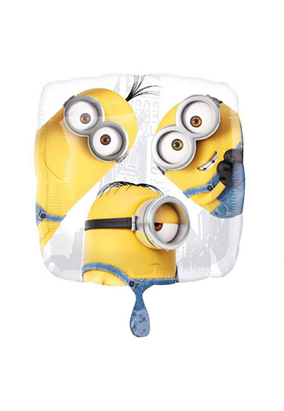 Despicable Me Minions Square Foil Mylar Balloon White Background