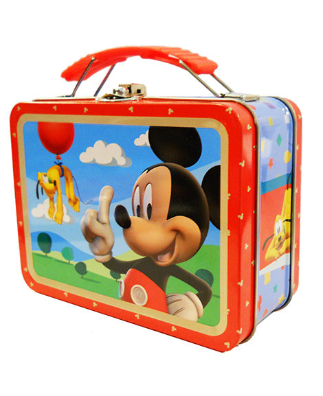 Mickey Mouse Carry All Metal Tin Box with Handle
