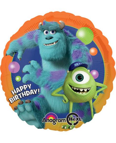 Monsters University Happy Birthday Foil Mylar Balloon