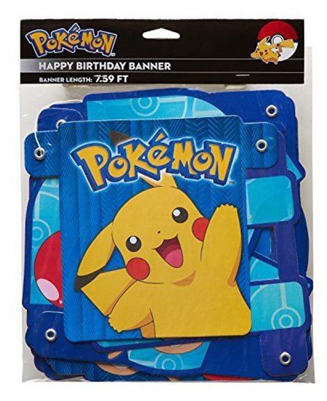 Pokemon Core Happy Birthday 7 Foot Banner