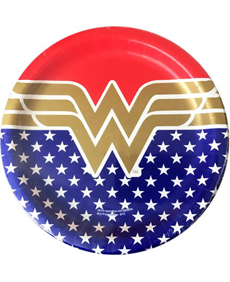 Wonder Woman Lunch Plates 8 Ct