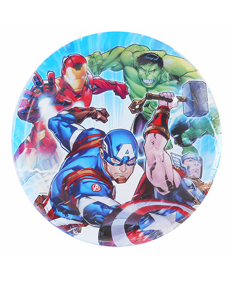 Avengers Epic Round Lunch Plates 8 Ct