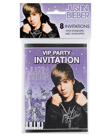 Justin Bieber Birthday Invitations 8 Ct