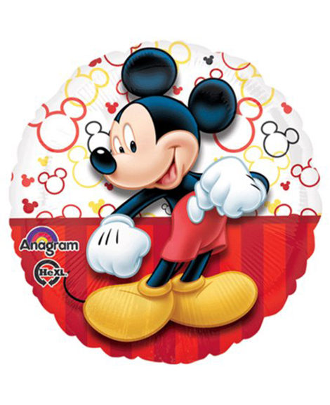Mickey Mouse Red Stripes Portrait Foil Mylar Balloon